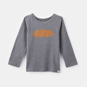 little styler long sleeve graphic tee, size 12-18m - Grey