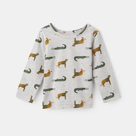 little styler long sleeve graphic tee, size 5-6y - Grey