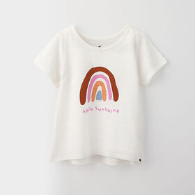 little styler graphic tee, 3-4y - white print