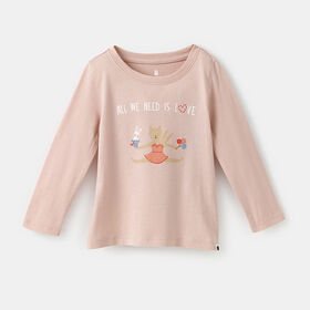 little styler long sleeve graphic tee, size 18-24m - Pink
