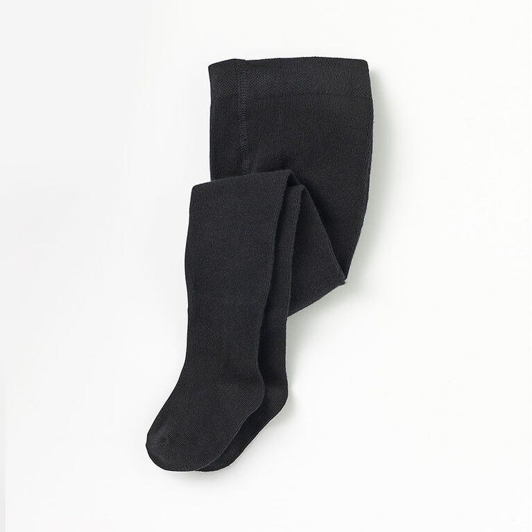 essential ribbed tights, 0-6m - black