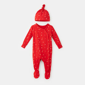 under the stars dream gift set , size 6-9m - Red