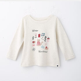 little styler long sleeve graphic tee, size 4-5y - Grey