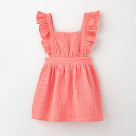 pinafore party dress, 2-3y - pink