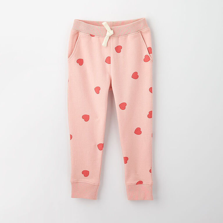 just chilling jogger, 5-6y - light pink print