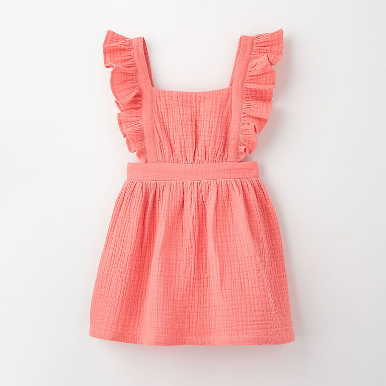pinafore party dress, 4-5y - pink