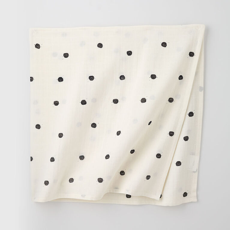 soft swaddle blanket, o/s - white cosmo