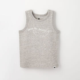 little styler graphic tank, 12-18m -  grey grindle