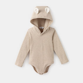 forest friends ribbed bodysuit, size 3-6m - White