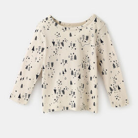 little styler long sleeve graphic tee, size 18-24m - White