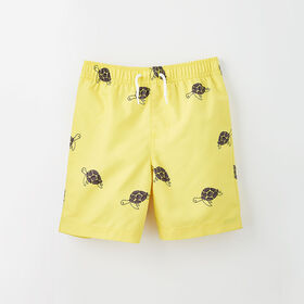 surf's up board short, 4-5y - yellow