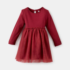 magical tulle tutu dress, size 9-12m - Red