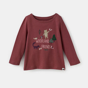 little styler long sleeve graphic tee, size 3-4y - Red