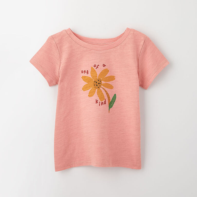 out of the box tee, 3-6m - light rose