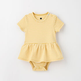 Robe barboteuse à manches courtes, 3-6 m – Rotin