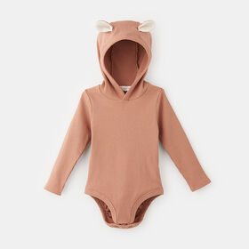 forest friends ribbed bodysuit, size 18-24m - Brown