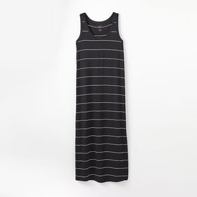 robe débardeur facile, taille tg - rayures anthracite