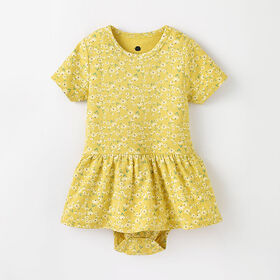 Robe barboteuse à manches courtes, 12-18 m – Bambou