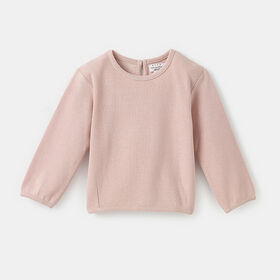 oversized crew neck popover sweater, size 3-6m - Pink