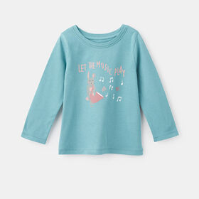 little styler long sleeve graphic tee, size 18-24m - Green