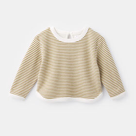 oversized crew neck popover sweater, size 9-12m - Brown