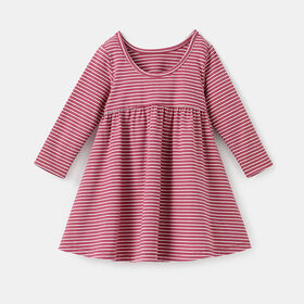 too cute long sleeved twirl dress, size 3-4y - Pink