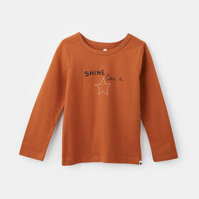 little styler long sleeve graphic tee, size 12-18m - Brown